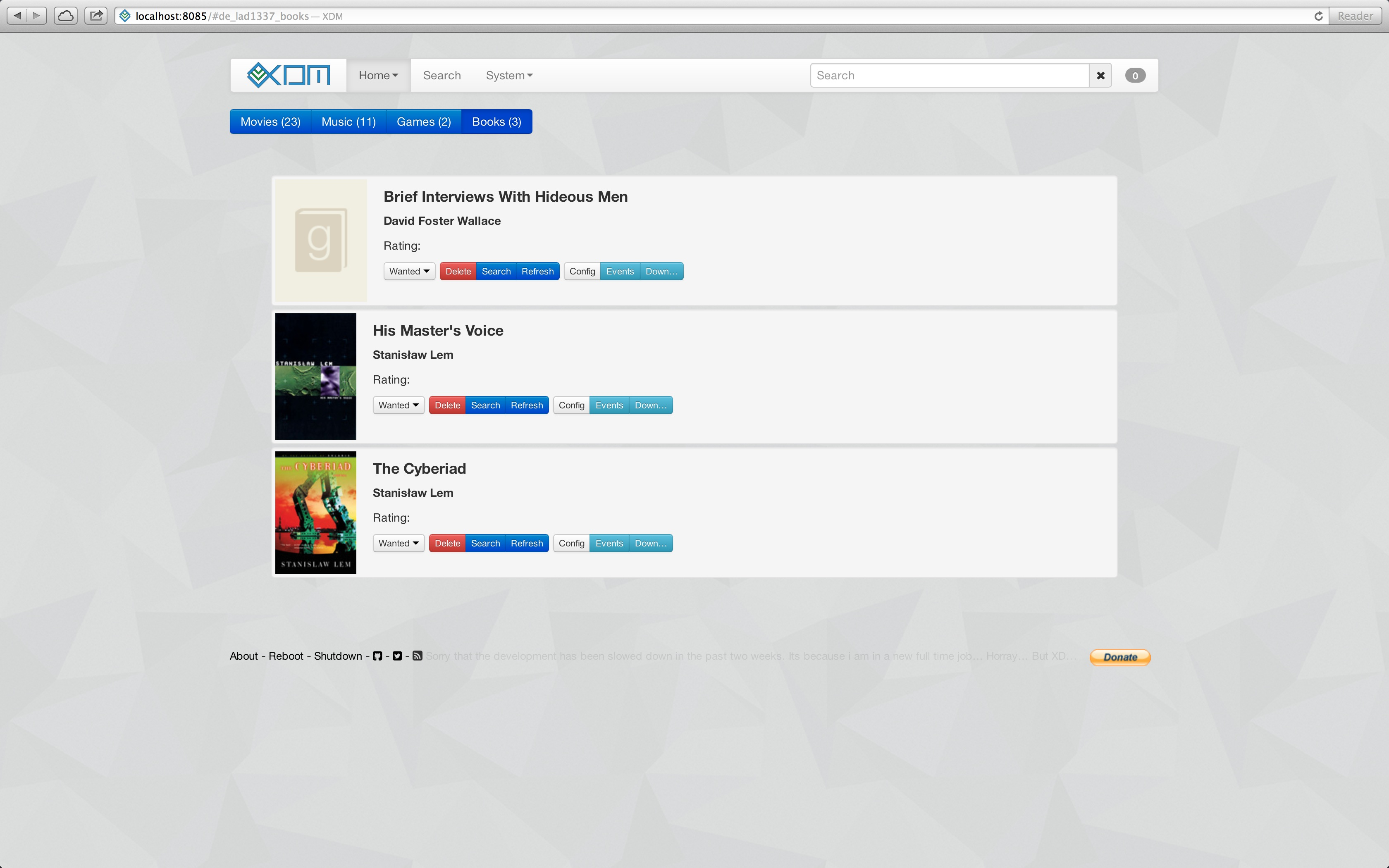 Books plugin